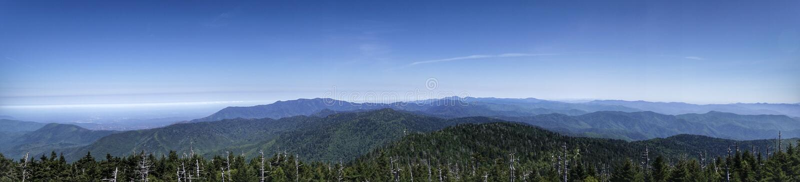 Panoramiczny widok gór warstwy obraz royalty free