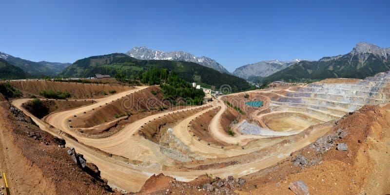 Panoramiczny widok górniczy łup obrazy stock