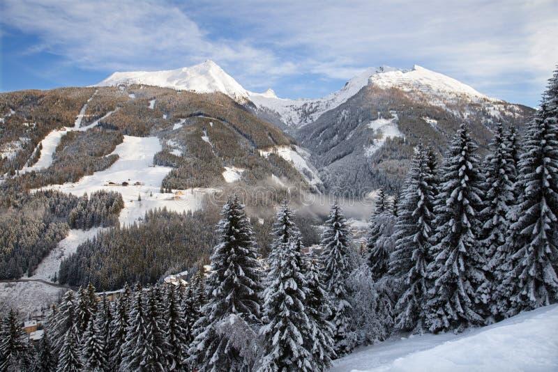 Panoramiczny widok Graukogel w Złym Gastein obrazy royalty free