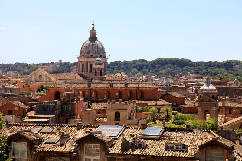 Panoramiczny widok historyczny centrum Rzym, Włochy zdjęcie stock