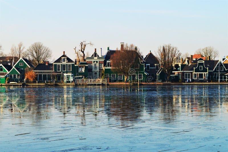 Panoramiczny widok, Holandia zdjęcie stock