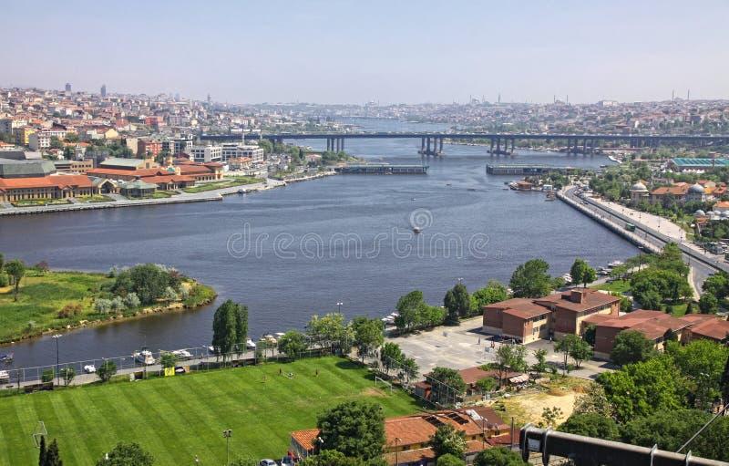Panoramiczny widok Istanbuł miasto, Turcja zdjęcie stock