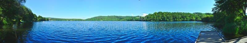Panoramiczny widok Jeziorny Aydat obraz stock