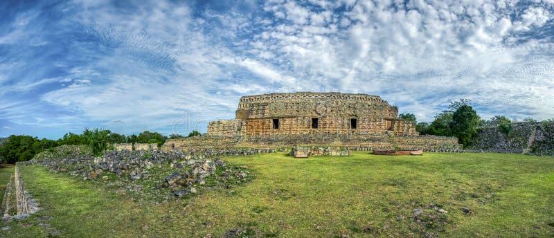 Panoramiczny widok Kabah, majowia archeologiczny miejsce, Merida, Jukatan, Meksyk zdjęcia stock