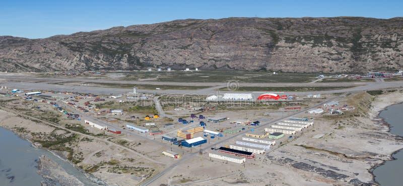 Panoramiczny widok Kangerlussuaq, Greenland fotografia royalty free