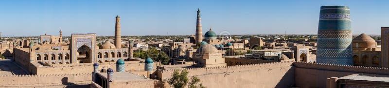 Panoramiczny widok Khiva, Uzbekistan - zdjęcia stock