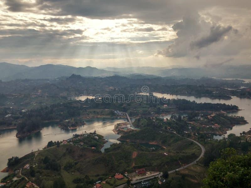Panoramiczny widok kolekcja jeziora fotografia royalty free