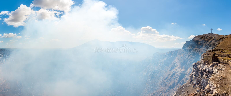 Panoramiczny widok krater Masaya wulkan w Nikaragua fotografia royalty free