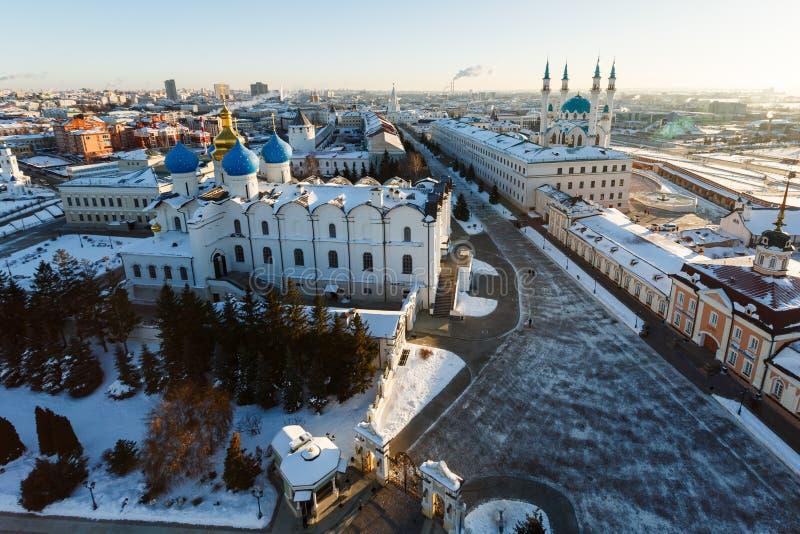 Panoramiczny widok Kula sharif meczet i Annunciation sabor fotografia stock