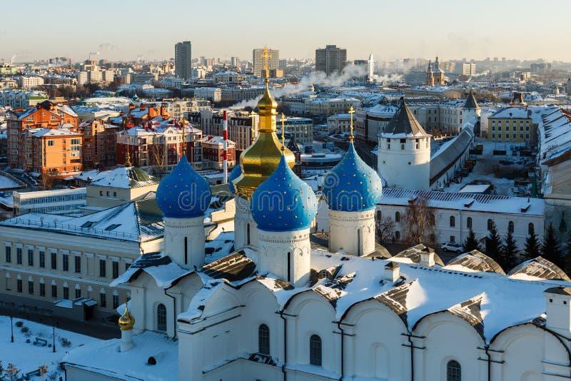 Panoramiczny widok Kula sharif meczet i Annunciation sabor obrazy stock