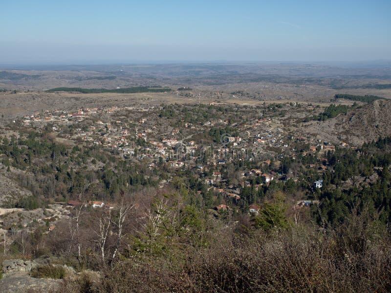 Panoramiczny widok los angeles Cumbrecita obrazy royalty free