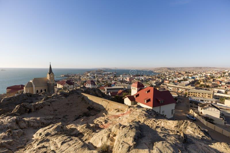Panoramiczny widok Luderitz miasteczko obraz royalty free