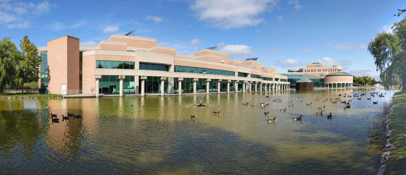Panoramiczny widok Markham Civic Center fotografia stock