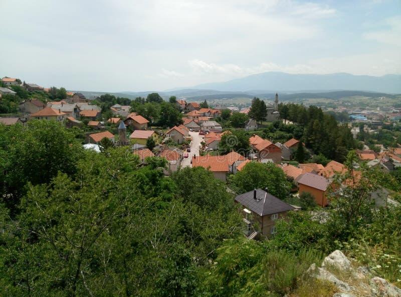 Panoramiczny widok miasteczko Livno, Bośnia i Herzegovina, fotografia stock