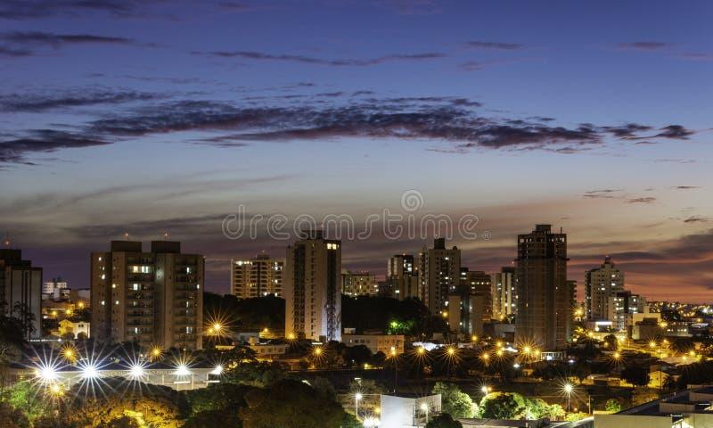 Panoramiczny widok miasto Bauru Wn?trze stan S?o Paulo Brazylia zdjęcia royalty free