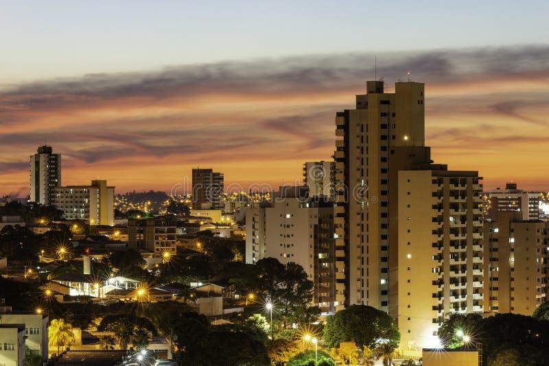 Panoramiczny widok miasto Bauru Wn?trze stan S?o Paulo Brazylia zdjęcia stock