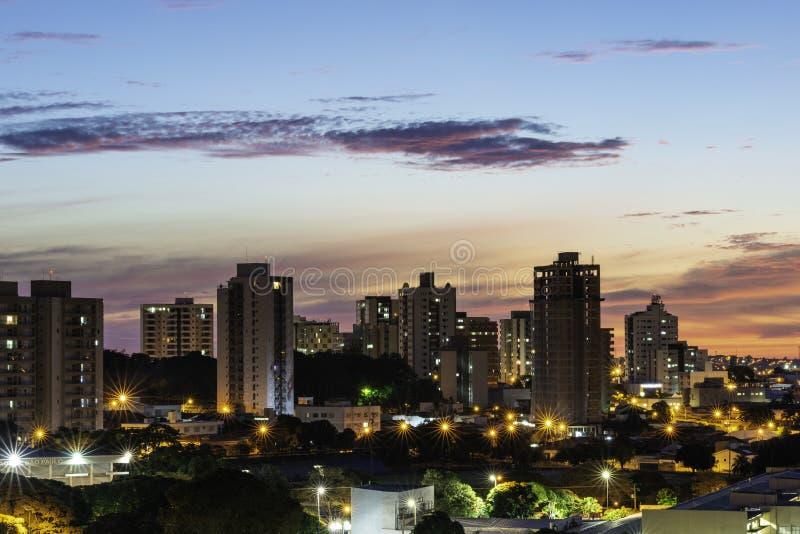 Panoramiczny widok miasto Bauru Wn?trze stan S?o Paulo Brazylia obrazy stock