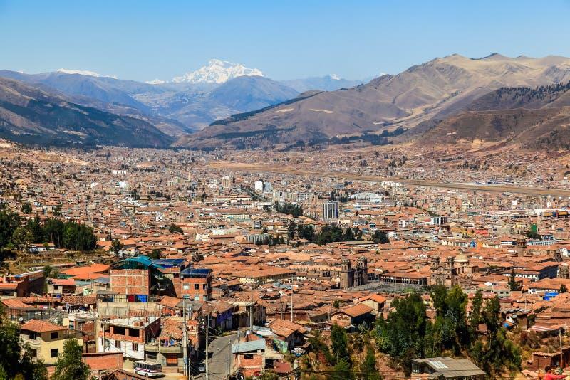 Panoramiczny widok miasto Cuzco zdjęcia stock