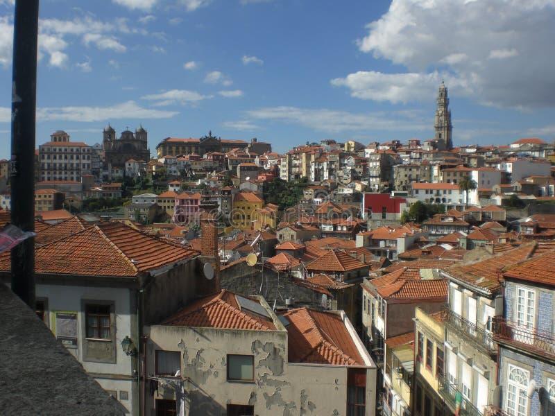 Panoramiczny widok miasto Porto w Portugalia Europa zdjęcia royalty free