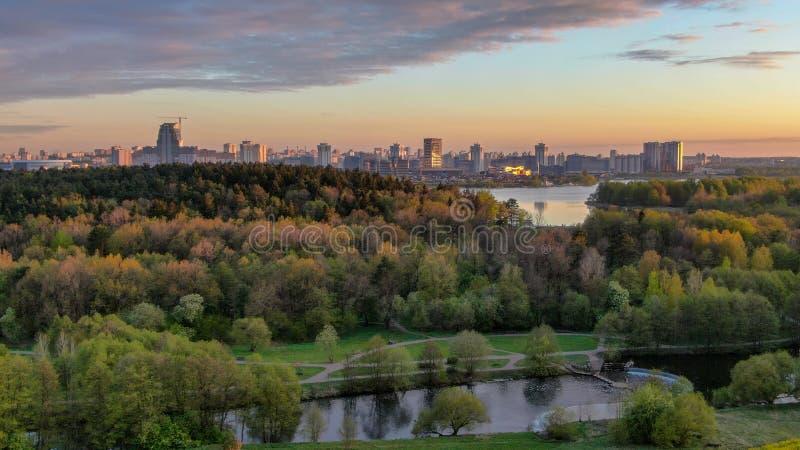 Panoramiczny widok Minsk miasto, Białoruś fotografia stock