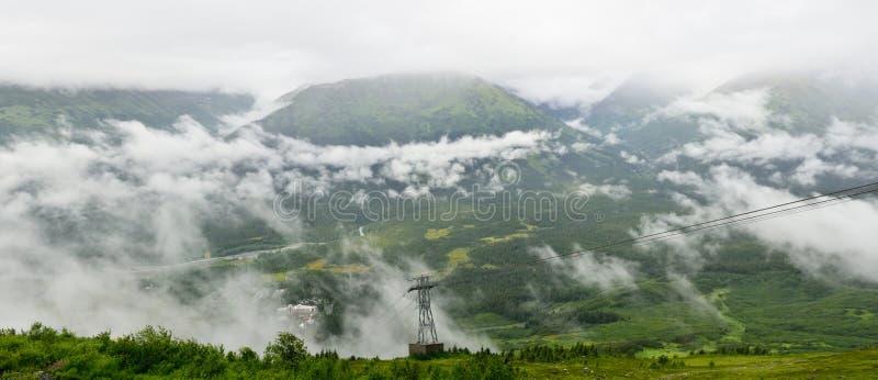 Panoramiczny widok Mt. Alyeska, Girdwood, Alaska, usa, Alaska, usa zdjęcie stock