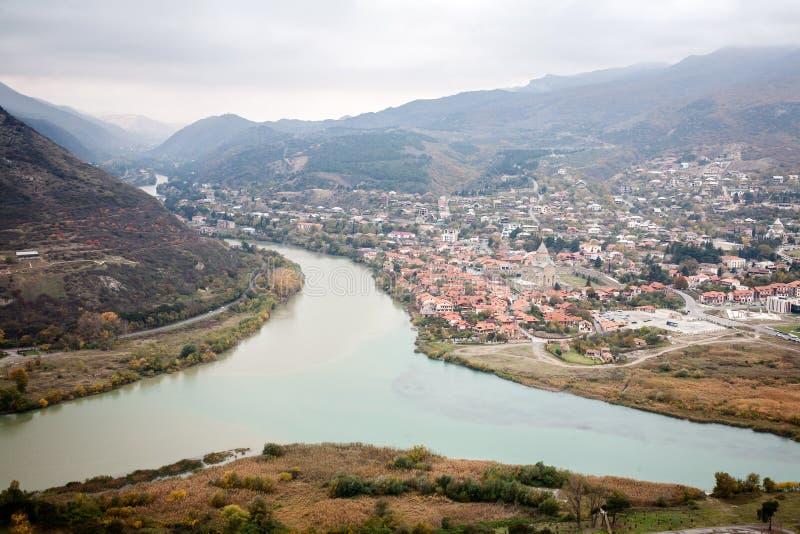 Panoramiczny widok Mtskheta zdjęcie royalty free