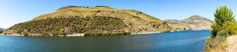 Panoramiczny widok na dolinie obraz stock