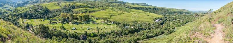 Panoramiczny widok na obóz w Mahai obrazy royalty free