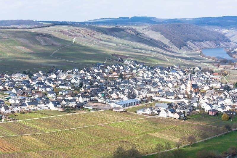 Panoramiczny widok nad Moselle doliną zdjęcie royalty free