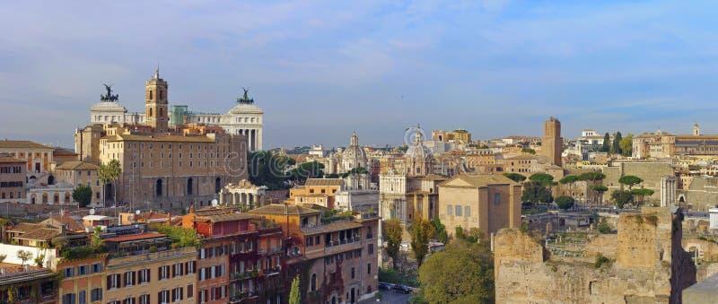Panoramiczny widok nad Rzym zdjęcie royalty free