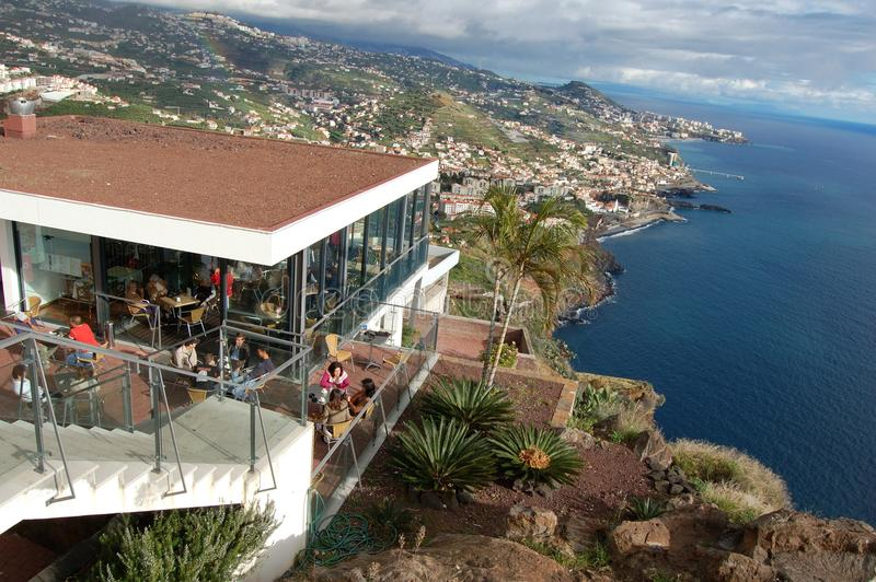 Panoramiczny widok nad wybrzeżem madera od Camara De Lobos obraz royalty free