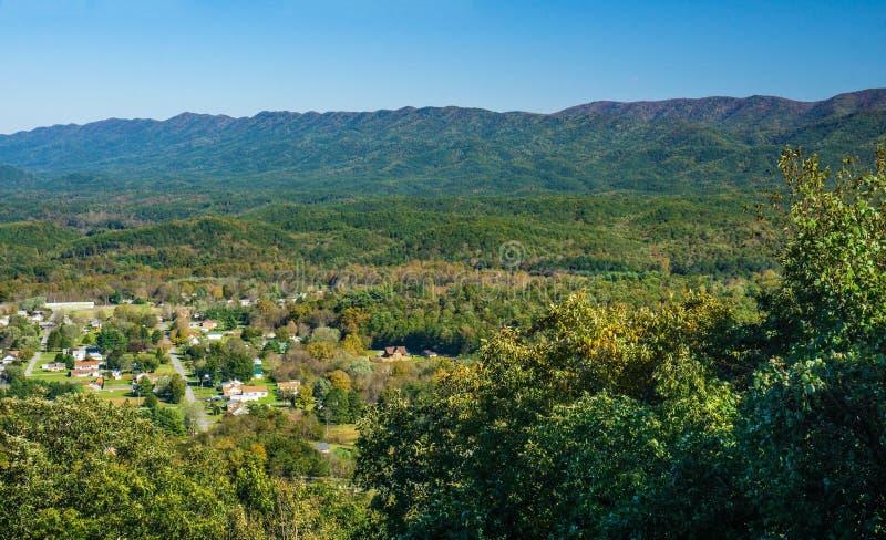 Panoramiczny widok New Castle i Szeroka bieg góra zdjęcia royalty free
