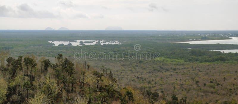 Panoramiczny widok od Cerro Orchilla obraz royalty free