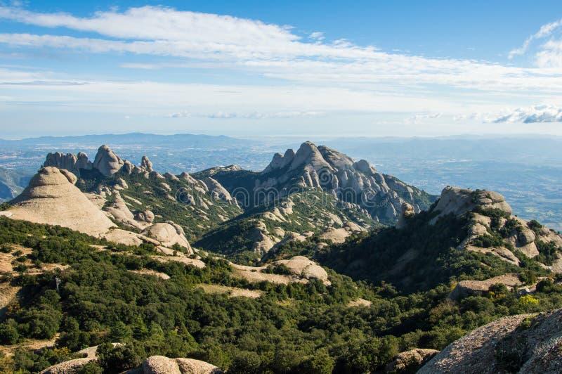 Panoramiczny widok od Montserrat obrazy stock