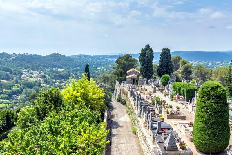 Panoramiczny widok od Saint Paul De Vence, Francja obrazy royalty free