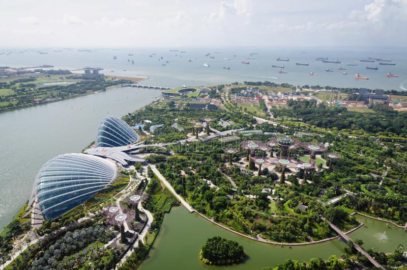 Panoramiczny widok od Singapur ulotki, Singapur, Azja obrazy stock