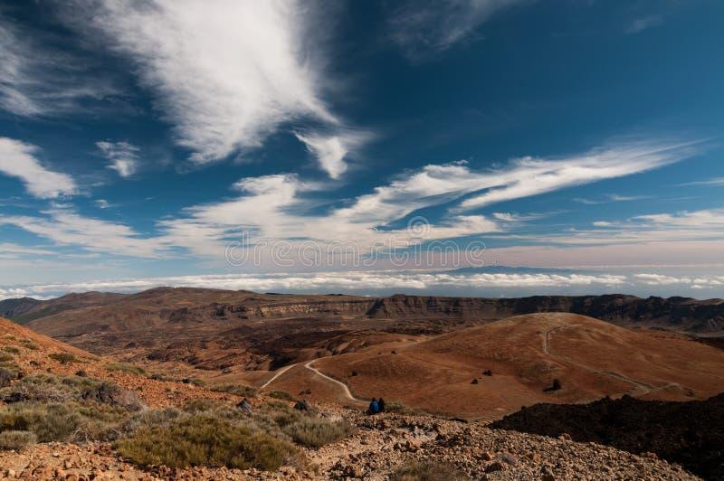 Panoramiczny widok od teide, Tenerife obraz royalty free