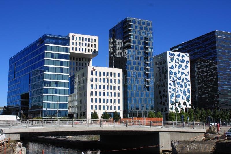 Panoramiczny widok Oslo zatoka, Norwegia obrazy royalty free