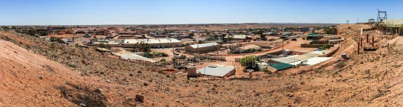 Panoramiczny widok pedy Coober, Południowy Australia, Australia obraz stock