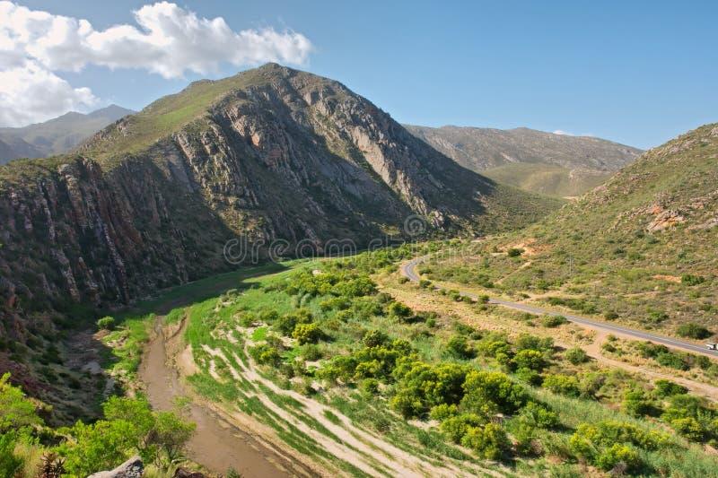Panoramiczny widok przy Montagu górami zdjęcie stock