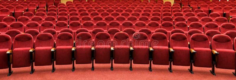 Panoramiczny widok pusta kinowa sala obraz royalty free