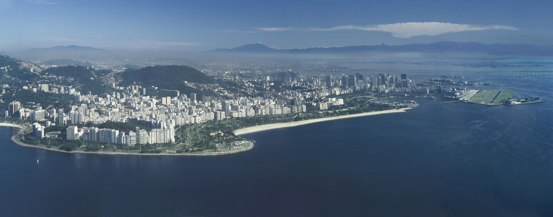 Panoramiczny widok Rio De Janeiro, Brazylia obrazy stock