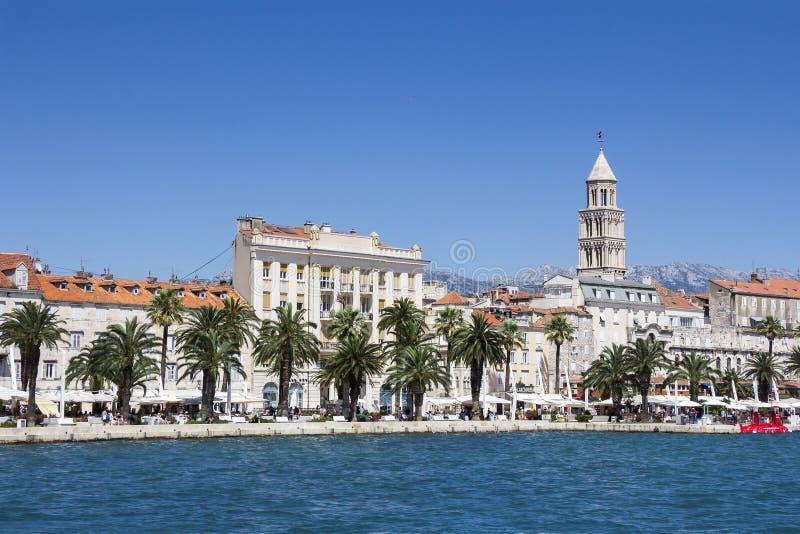 Panoramiczny widok Rozszczepiony Chorwacja fotografia royalty free