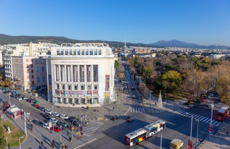 Panoramiczny widok Saloniki, Grecja obrazy stock