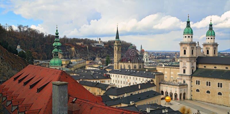 Panoramiczny widok Salzburg Austria zdjęcia royalty free