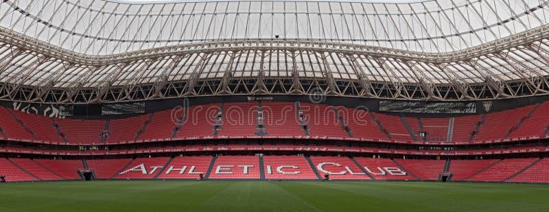 Panoramiczny widok San Mames, stadion futbolowy, dom Sportowy zdjęcia stock