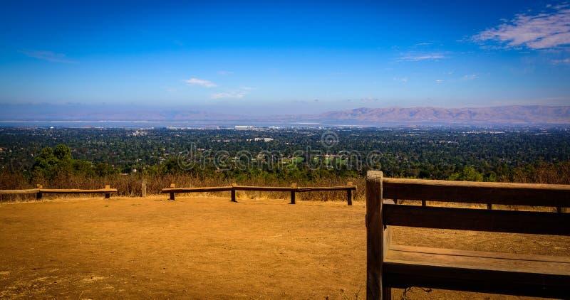 Panoramiczny widok silikonowa dolina zdjęcie royalty free