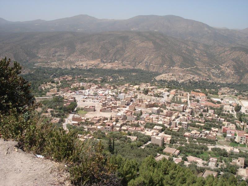 Panoramiczny widok Skoura, Sefrou Maroko obraz royalty free