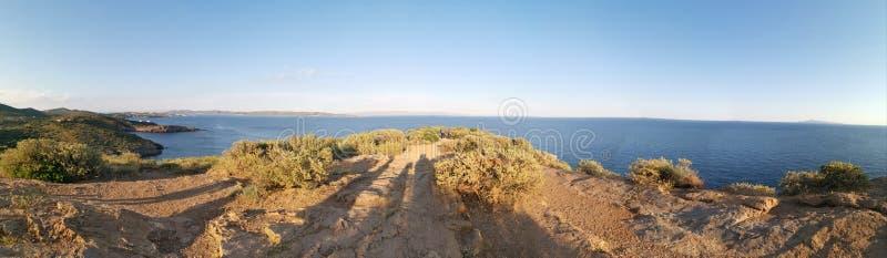 Panoramiczny widok Sounion Ateny Grecja fotografia stock