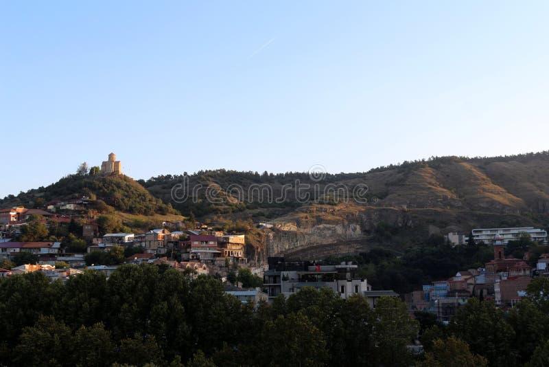 Panoramiczny widok Stary Tbilisi, Gruzja obrazy stock
